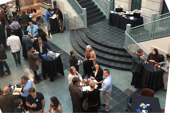 people-networking-in-atrium